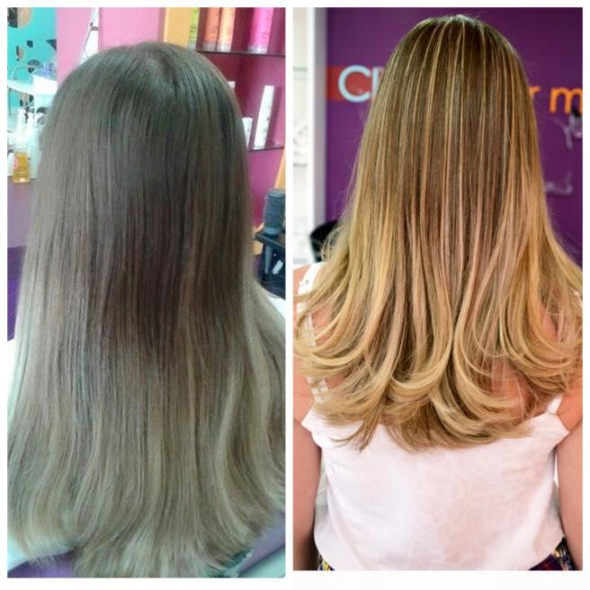 antes e depois luzes feita pelo Tiago Costa